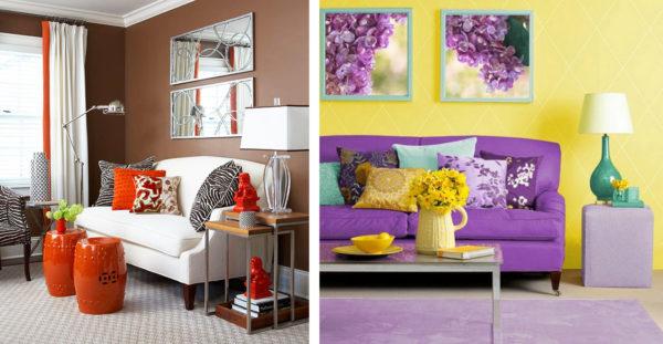 Что такое контрастное сочетание цветов в интерьере