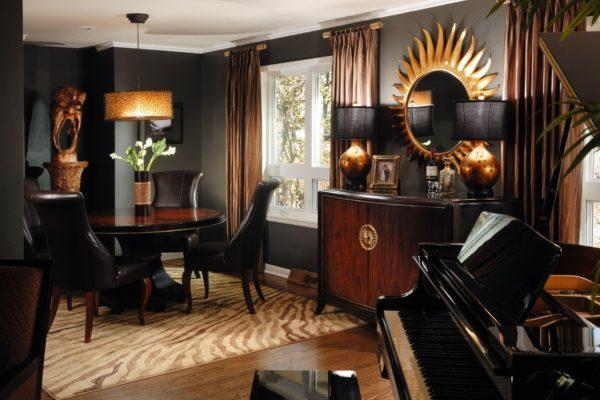 Экзотические предметы декора гостиной