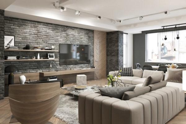 Особенности оформления гостиной в стиле эколофт