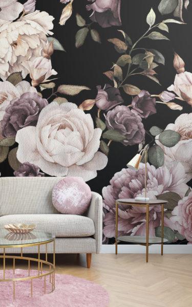 В каком интерьере будут уместны обои с цветочным рисунком