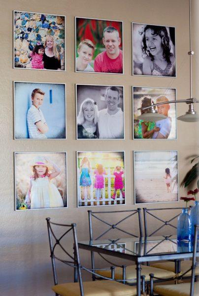 Как украсить квартиру фотографиями