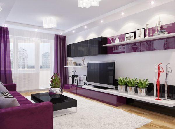Как можно использовать фиолетовый цвет в интерьере