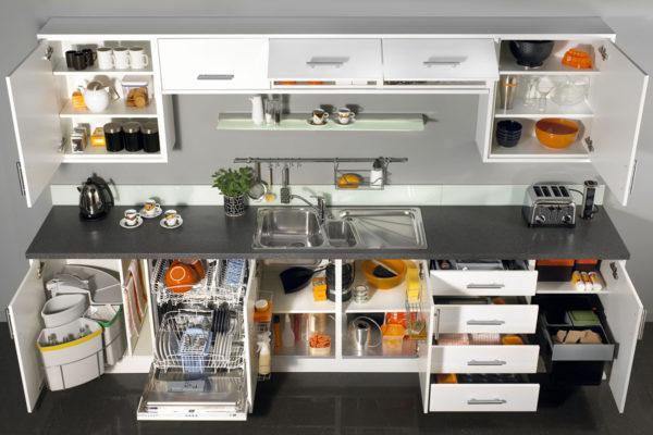 Как грамотно организовать хранение на маленькой кухне