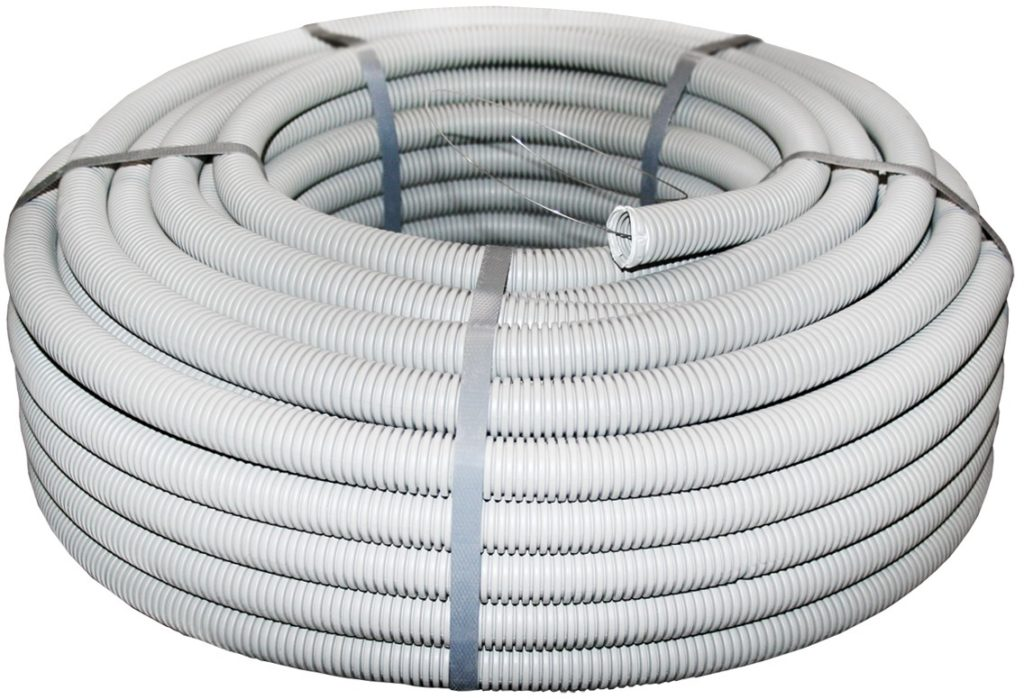 Гофрированные трубы из ПВХ для прокладки кабеля
