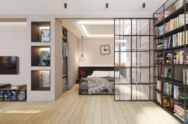 Как в квартире-студии оборудовать место для уединенного отдыха