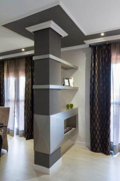 Колонны в современном интерьере квартиры
