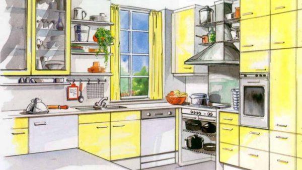 Как грамотно спланировать пространство кухни