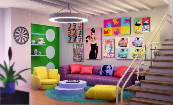 Что такое стиль поп-арт и как его воссоздать в своей квартире