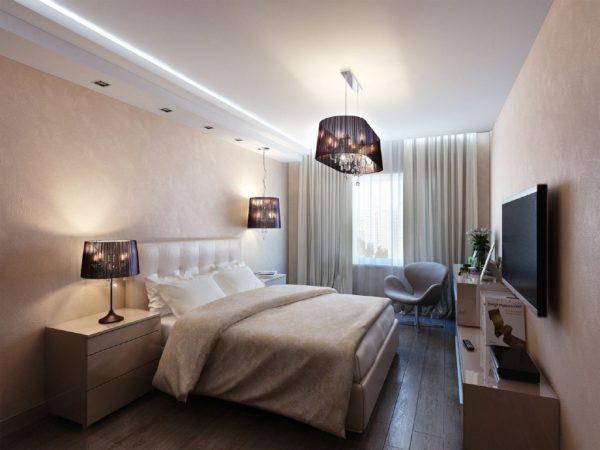 5 вариантов отделки потолка в спальне