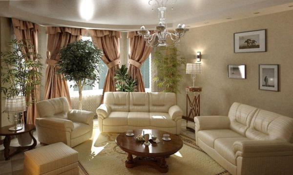 Основные принципы обустройства гостиной в классическом стиле