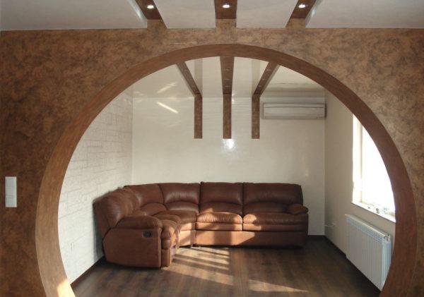 В каком стиле интерьера будет уместна межкомнатная арка