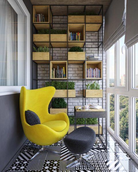 7 идей обустроить застекленный балкон