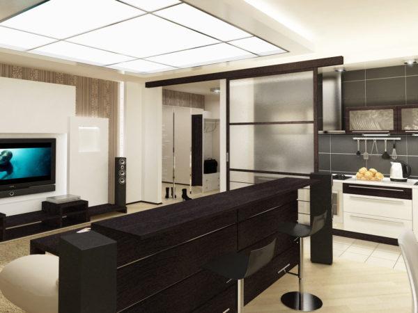 Какой высоты сделать барную стойку в квартире студии