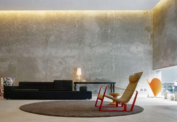 Как грамотно использовать бетонные фактуры в интерьере
