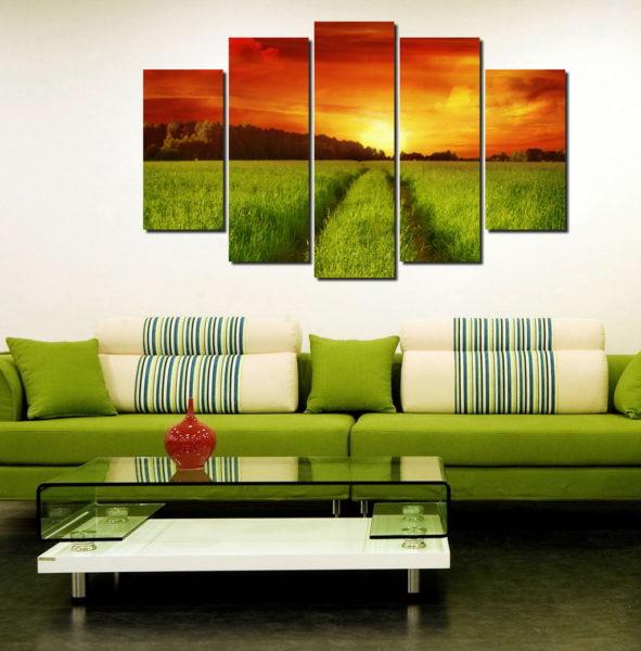 Как украсить квартиру модульными картинами