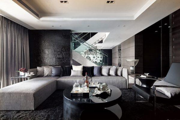 Плюсы и минусы черного пола в гостиной