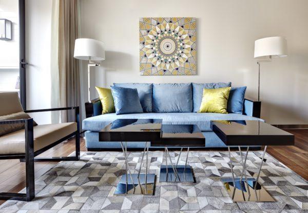 Как выбрать ковер в гостиную в современном стиле