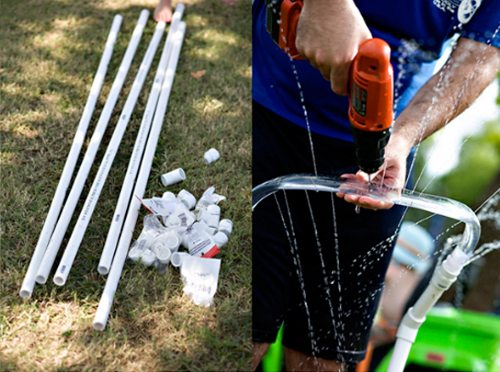 Для работы вам понадобятся обычные водопроводные трубы из пластика.