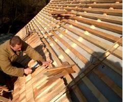 дранка производится на крышу трехслойно