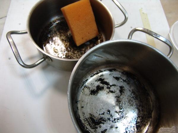 Как очистить кастрюлю от пригоревшего варенья или сахара
