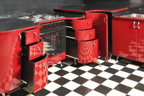 Мебель с радиусными фасадами как часть интерьера кухни