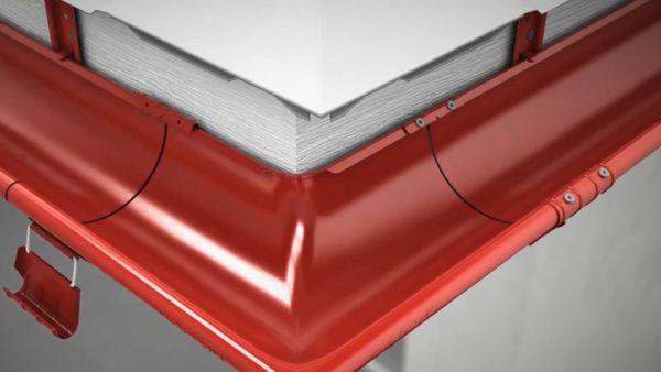 Как показано на рисунке, угловое соединение можно усилить, закрепив зажим заклепками или саморезами