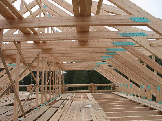 как поставить крышу