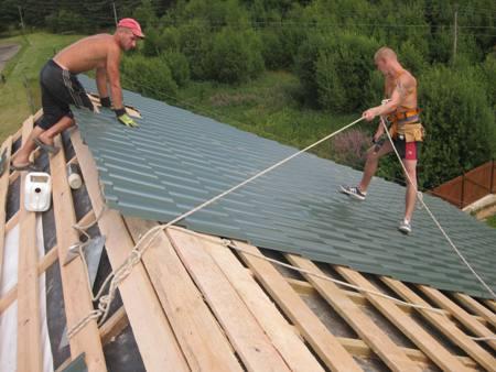 Своими руками сделать крышу дома
