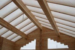 как строить крышу бани
