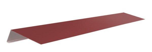 Карнизные планки имеют перегиб для того, чтобы закрывать торец кровельной конструкции