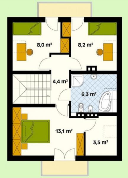 Кладовка или гардеробная в спальне будет довольно удобным решением.