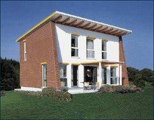 Жилой дом с односкатной крышей