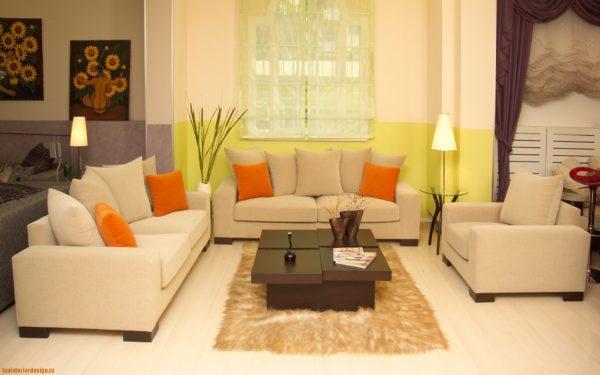 Как правильно подобрать цвет ковра для гостиной