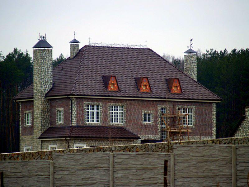 крыша четырехскатная
