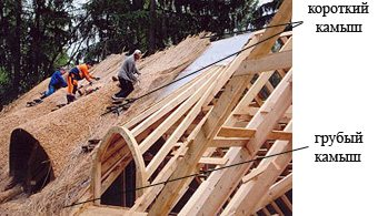 крыша из камыша своими руками
