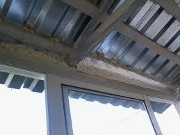 крыша на балкон своими руками