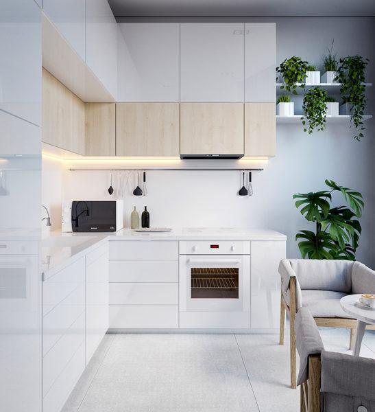 Когда стоит выбрать глянцевый кухонный гарнитур