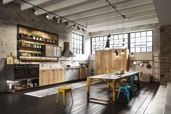 Как использовать стиль лофт для обустройства кухни