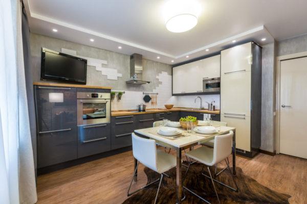 Кухня-гостиная для приятных вечерних посиделок всей семьей