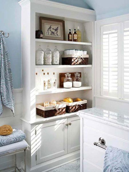 6 проверенных идей для хранения в маленькой ванной