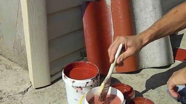 Лучше проверить краску на куске шифера