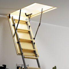 Люк оборудован раздвижной лестницей