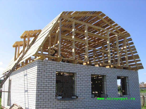 Крыша дома своими руками ломаная мансардная