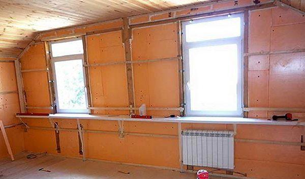 Материал используют для внутренней теплоизоляции мансардных крыш.
