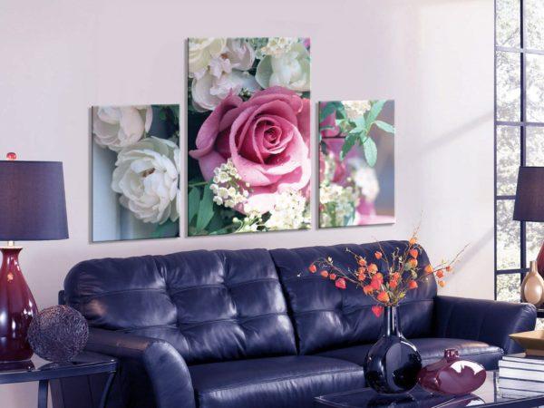 Как правильно использовать модульные картины для украшения гостиной