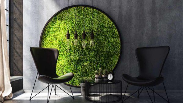 Лучший прием эко-дизайна: стабилизированный мох в интерьере