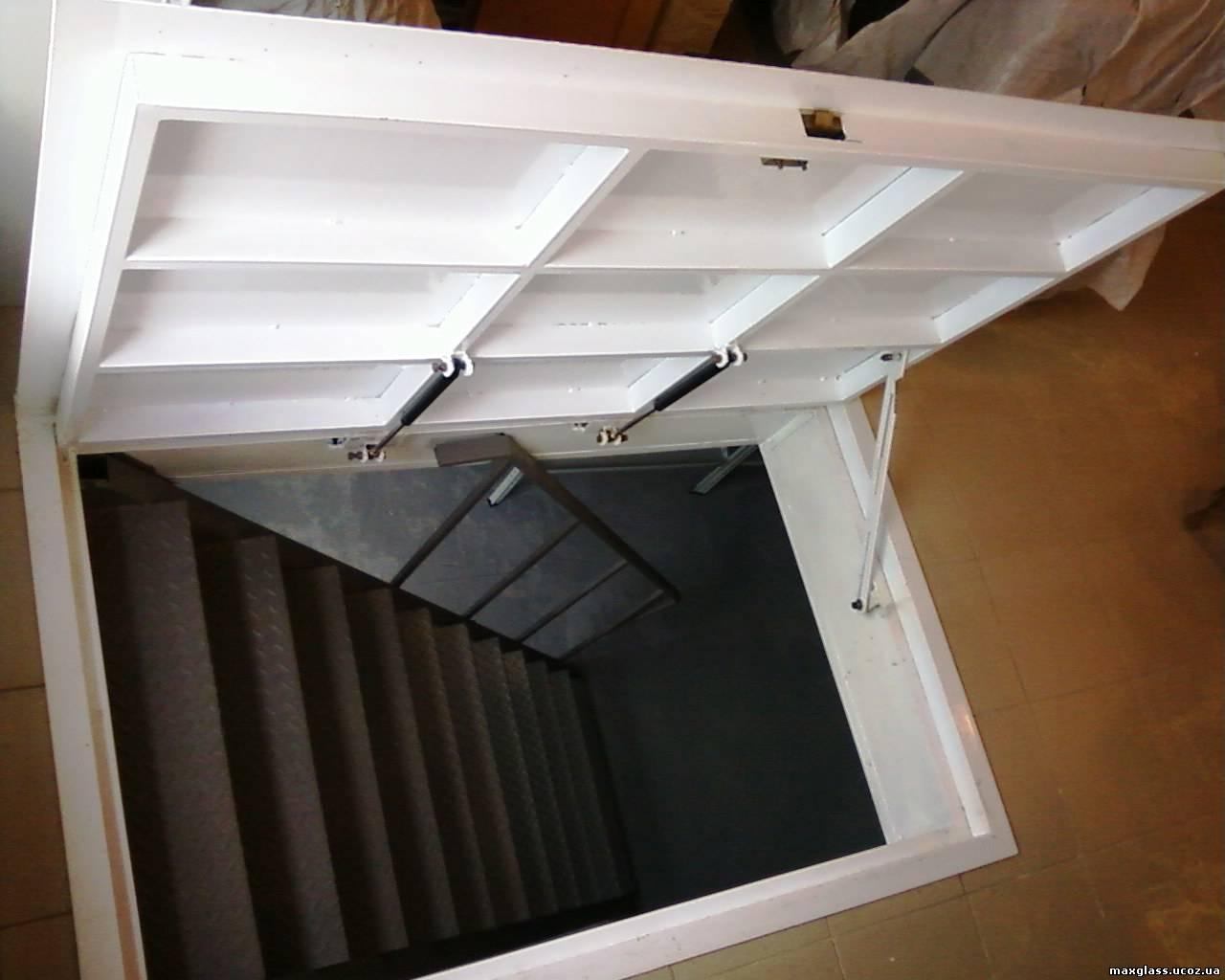 Лестница в погреб своими руками фото