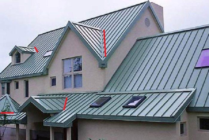 На многощипцовой крыше обязательно есть ендовы — внутренние углы на стыке двух скатов