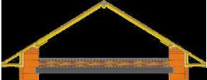 Наслонная система на опарном брусе