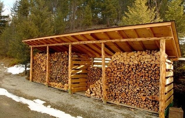 Построить сарай для дров 14